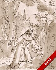 ST FRANCIS RECEIVES THE STIGMATA MARKS WATERCOLOR PAINTING ART REAL CANVAS PRINT