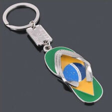 Creative Key Ring Keychain Slipper Waist Brazil Flag Alloy 3D Fashion Metal