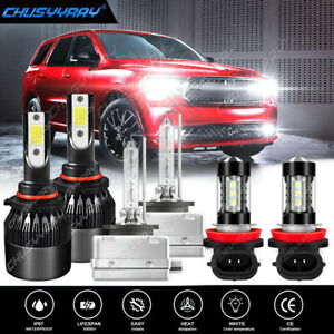 Para For Dodge Durango 2016-2017-Faros LED HID Hi/Lo+Bombillas de luz antiniebla