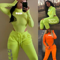 Womens Stretch Leotard Bodysuit Jumpsuit Romper Bodycon Body Tops Playsuit S M L