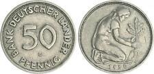 50 Pfennig Bank Deutscher Länder 1950G Erhaltung ss +
