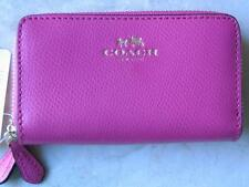 ~Coach Coin Purse Pink Wallet Double Zip Ziparound Leather NWT 95.00!!~