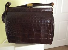 Vintage Bellestone Brown Alligator Handbag