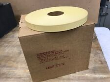 Teletype Tape Distributor 11/16� Oiled Paper Tape, Yellow, 2.0� Core (1) Case