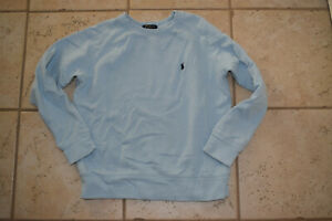Boy's Ralph Lauren Polo Light Blue French Terry LS Sweatshirt sz M 10-12