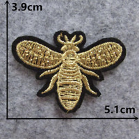 Gold Bee Patch for Embroidery Cloth Patches Badge Iron Sew On