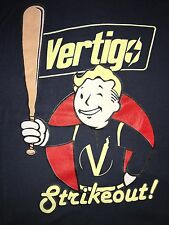 New Men's Size Small Vault Boy-Vertigo Strikeout! Graphic T Shirt-Indigo