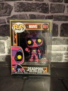 Funko Pop! Deadpool Blacklight #801 SPECIAL EDITION *BNIB WITH PROTECTOR*