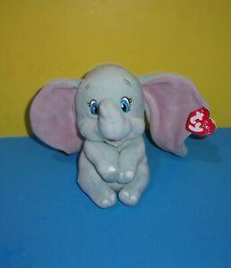 """TY Sparkle Beanie Baby Babies Disney 7"""" Dumbo Elephant Stuffed Plush Toy w/Tag"""