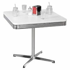 Table à manger 80 x 80 cm American Diner métal table bistrot rétro USA aluminium