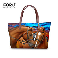 Animal Horse Lady Women Handbag Shoulder Messenger Bag Women Satchel Tote Purse