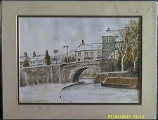 Mounted Watercolour Signed S Foster. Mytholmroyd Nr Hebden Bridge