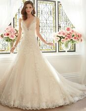 New Ivory/white Lace Wedding Dress Bridal Gown Custom Size 4 6 8 10 12 14 16 18+