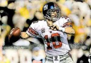 New Eli Manning New York Giants Art Print LE of 50 Rare