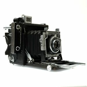 Graflex 2x3 Speed Graphic Large Format Film Body with 101mm f4.5 Optar Lens