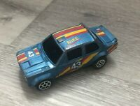 Vintage Summer Diecast Toy Car Blue Fiat Abarth Nike #43