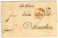 Belgium stampless cover - 1847 Barmen to London (UK)