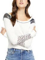 New We The Free People Bright Side Thermal XS Snow Combo Ivory Camo Multi Nwt