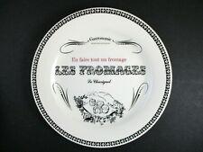 "GIEN GASTRONOMIE CHEESE PLATE - 6 1/2""   ""Le Chavignol""  1308E"