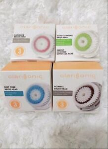 4x CLARISONIC BRUSH HEADS ACNE RADIANCE DEEP PORE SENSITIVE NORMAL LUXE CASHMERE