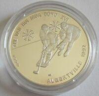 Vietnam 100 Dong 1990 Olympics Albertville Ice Hockey Silver