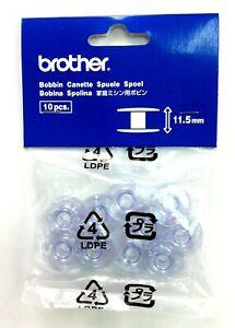 Brother Sewing Machine Bobbins GENUINE  11.5mm  Plastic Pkt 10   XA5539151- A896