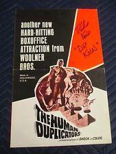 The Human Duplicators Pressbook-Richard Kiel