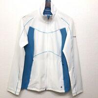 Columbia women's Omni Wick evaporation advanced Zip Up jacket Size Large Blue