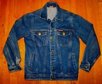 Vtg 80s JORDACHE Blue Jeans Denim Trucker Jacket Youth L Womens S Petite #157