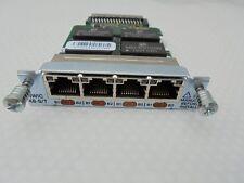 Cisco HWIC - 4B-S/T 4 puertos ISDN BRI S/T tarjeta de interfaz WAN de alta velocidad. Laboratorio Ccna,