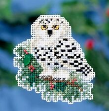 Mill Hill Beads Cross Stitch Kit with Treasure & Magnet ~ SNOWY OWLET #18-1633