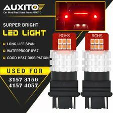 2X AUXITO 3157 3156 Turn Signal Brake Tail Light Bulb Red LED 12E For Ford EA