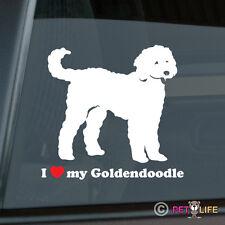I Love My Goldendoodle Sticker Die Cut Vinyl - doodle