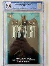 Legends of the Dark Knight 1 - CGC 9.4 1989 DC Batman: aqua Cover