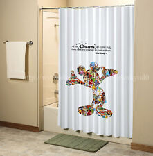 Disney Mickey Mouse Dream Quotes Shower Curtain High Quality Bathroom 60x72 Inch