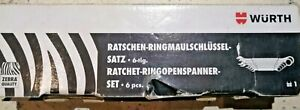 Wurth ZRBRA 6 PIECE double Ended Ratcheting Spaners Set 8-19mm 071425950