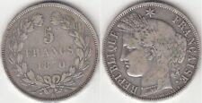 Monnaie Française 5 francs argent Cérès 1870 K