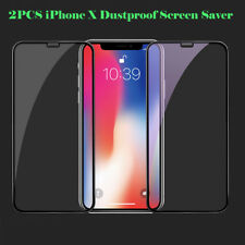 2 Pcs Full Coverage 6D iPhone X dust-proof Tempered Glass Screen Protector UK