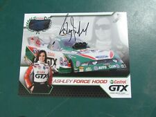 ASHLEY FORCE HOOD Signed Hand Out Photo w/ Hologram 8 x 10