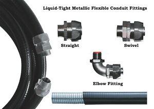 Premium 16mm, 20mm, 25mm & 32mm  Liquid Tight Flexible Conduit Fittings