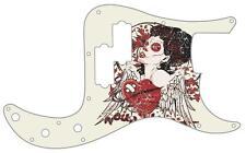 P Bass Precision Pickguard Custom Fender 13 Hole Guitar Pick Guard Wounded Heart