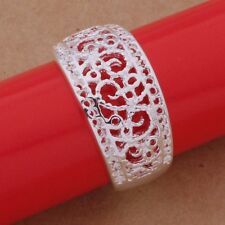 ELEGANT BRIDAL SILVER CURVED SCRIPT FILIGREE CHRISTMAS RING FAVOUR NAPKIN HOLDER