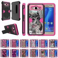 For Samsung Galaxy On5 Case Holster Belt Clip Hybrid Kickstand Pink Cover