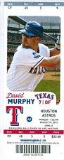 2013 Rangers vs Astros Ticket:  A.J. Pierzynski HR/Rangers score 16