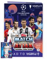 2018 2019 UEFA Champions League Match Attax Extra Starter Pack Album + 6 Cards