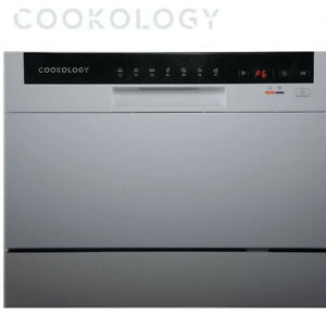 Cookology CTTD6SL Silver Table Top Dishwasher, 6 place settings, 34