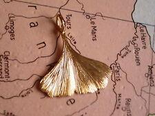 Anhänger Ginkgo Blatt Gold 333 seidenmatt, Kettenanhänger Ginkgoblatt Gold 333