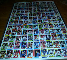 1986-87 O-PEE-CHEE OPC BLANK BACK UNCUT COMPLETE 2 SHEET SET 264/264 ROY ROOKIE