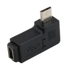 5 Pin Female Mini to Right Angle Adapter Micro 5 Pin Male 90 Degree Converter