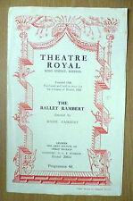 1952 BALLET RAMBERT Programme- Eve of Saint Ages,Death & Maiden,Nutcracker Suite